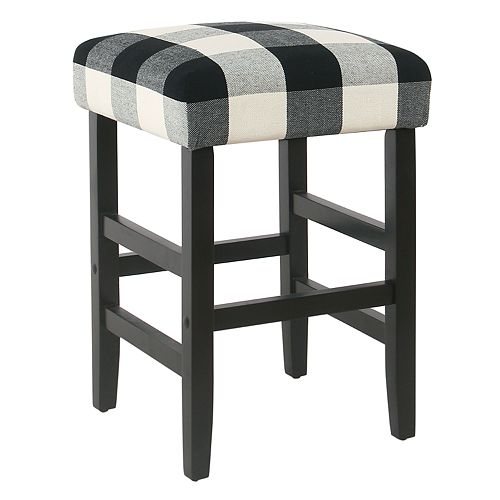 New Buffalo Check Backless Counter Stool