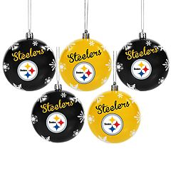Pittsburgh Steelers 5-Pack Shatterproof Ball Ornament Set