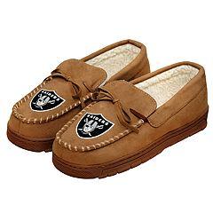 Men's Oakland Raiders Moccasin Slippers