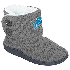 Women's Detroit Lions Knit Button Boots