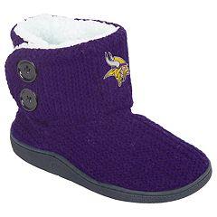 Women's Minnesota Vikings Knit Button Boots