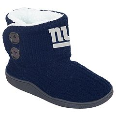 Women's New York Giants Knit Button Boots