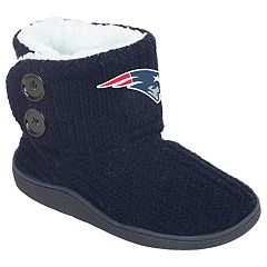 Women's New England Patriots Knit Button Boots