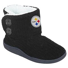 Women s Pittsburgh Steelers Knit Button Boots ca70c596f