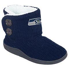 Women's Seattle Seahawks Knit Button Boots