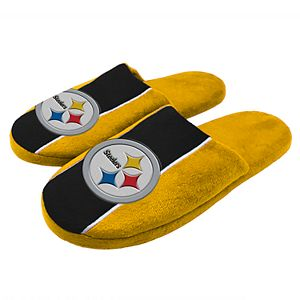 dccd6bb435b Men s Forever Collectibles Pittsburgh Steelers Moccasin Slippers. (1).  Regular