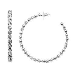 Jennifer Lopez Crystal Stone Hoop Earrings