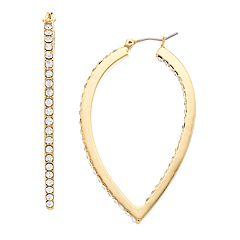 Jennifer Lopez Stone Teardrop Hoop Earrings