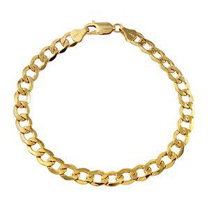 Men's 10k Gold Curb Bracelet