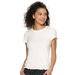 44d709b824788 Juniors White T-Shirts Tops   Tees - Tops