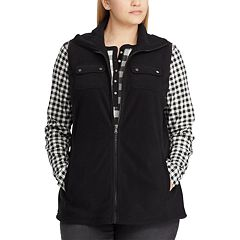 Plus Size Chaps Fleece Vest
