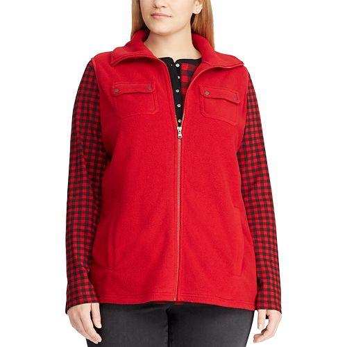 59e55a23d60 Plus Size Chaps Fleece Vest