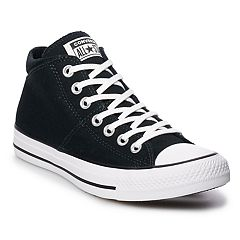 c3a8aa4dcf40 Women s Converse Chuck Taylor All Star Madison Mid Sneakers. Rhubarb White  Black White