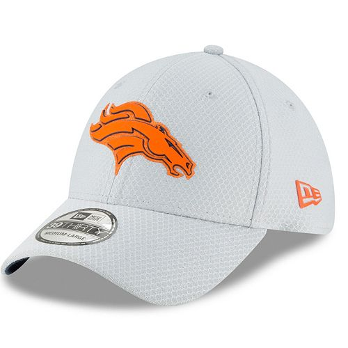 0b1e03f2676 Adult New Era Denver Broncos Training 39THIRTY Flex-Fit Cap
