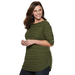 Womens Green Sweaters Tops Clothing Kohls