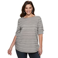 9da7085eb43 Plus Size Apt. 9® Side Ruched Sweater