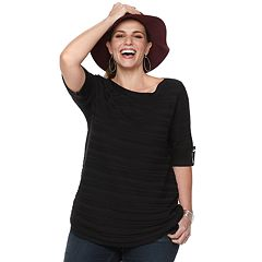 Plus Size Apt. 9® Side Ruched Sweater