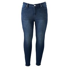Plus Size LC Lauren Conrad High-Waisted Skinny Ankle Jeans