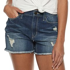 Juniors' Mudd® Exposed Button Fly Jean Shorts
