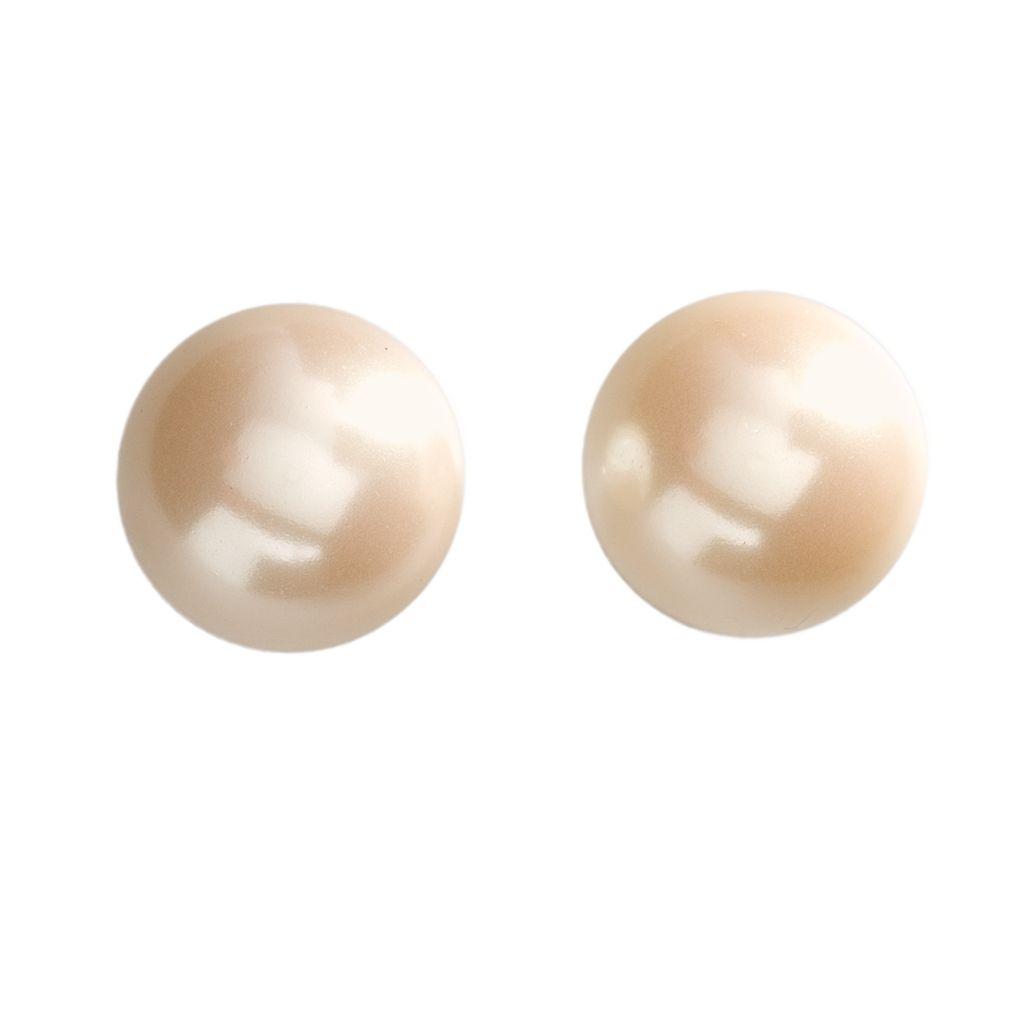 Chaps Simulated Pearl Stud Earrings