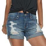Juniors' Mudd® Midi Jean Shorts