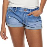 Juniors' SO® Rolled Cuff Low Rise Shortie Shorts