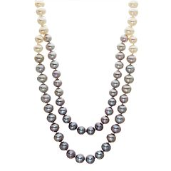 Gray Ombre Freshwater Cultured Pearl Necklace