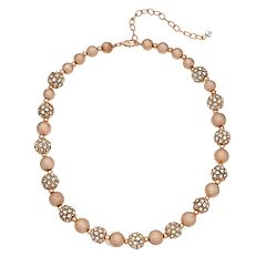 Napier Rose Gold Tone Collar Necklace