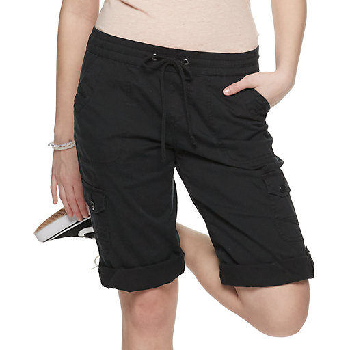 d44d5dccd1 Juniors' Unionbay Stretch Lightweight Twill Convertible Skimmer Shorts
