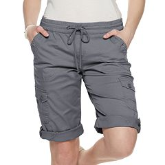 Juniors' Unionbay Stretch Lightweight Twill Convertible Skimmer Shorts