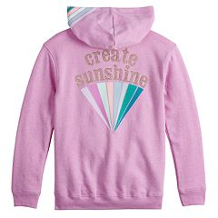 Girls 7-16 SO® Graphic Tunic Hoodie