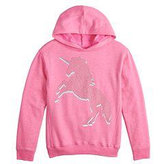 Girls 7-16 SO® Graphic Tunic Hoodie