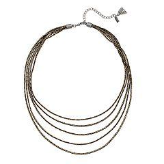 Simply Vera Vera Wang Bronze Tone Multi Strand Necklace