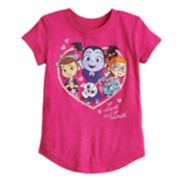"Toddler Girl Jumping Beans® Vampirina ""Live Out Loud"" Glittery Graphic Tee"