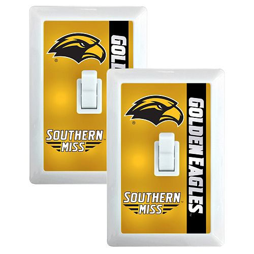 Southern Miss Golden Eagles 2-Pack Nightlight Light Switch