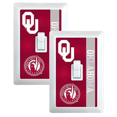 Oklahoma Sooners 2-Pack Nightlight Light Switch