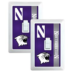 Northwestern Wildcats 2-Pack Nightlight Light Switch