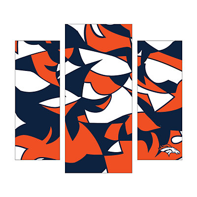 Denver Broncos 3-Piece Wall Art