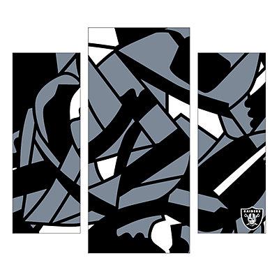 Oakland Raiders 3-Piece Wall Art