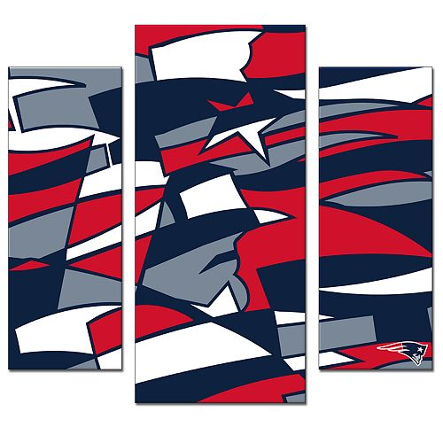 New England Patriots 3-Piece Wall Art
