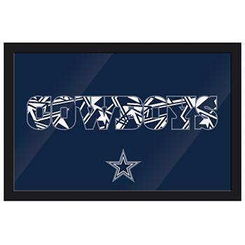 Dallas Cowboys Modern Framed Wall Art