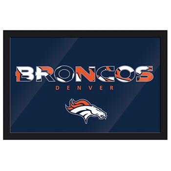 Denver Broncos Modern Framed Wall Art