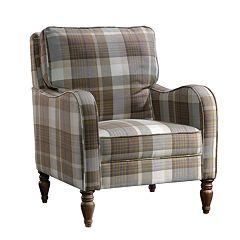 Sauder New Grange Plaid Accent Chair