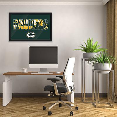 Green Bay Packers Modern Framed Wall Art