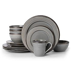 Food Network™ Biscotti Gray 16-pc. Dinnerware Set