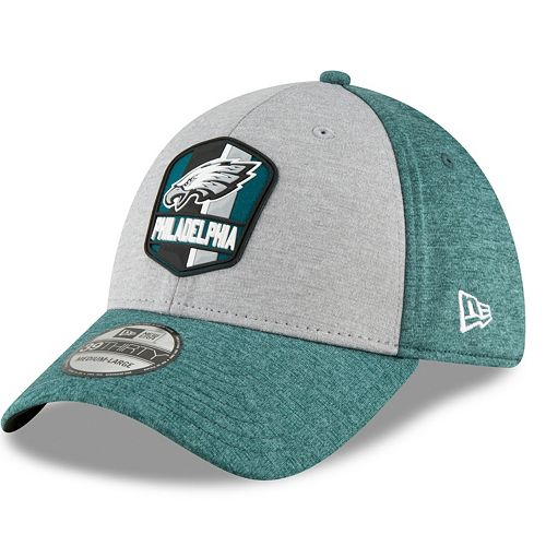 Adult New Era Philadelphia Eagles Sideline Team 39THIRTY Flex-Fit Cap