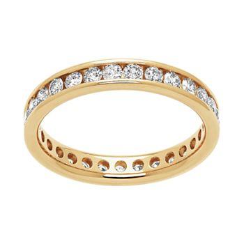 14k Gold 1 Carat T.W. Diamond Eternity Band
