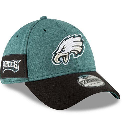 Adult New Era Philadelphia Eagles Sideline Home Official 39THIRTY Flex-Fit  Cap d8dc87ed6