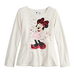 Disney's Minnie Mouse Toddler Girl 'Sparkle Season' Sequined Graphic Tee by Jumping Beans®