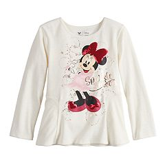 Disney's Minnie Mouse Girls 4-12 'Sparkle Season' Sequined Graphic Tee by Jumping Beans®
